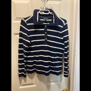 Lauren Ralph Lauren nautical striped sweater large